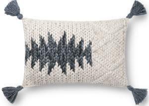 Loloi Pillows P0810 Natural - Blue Area Rug