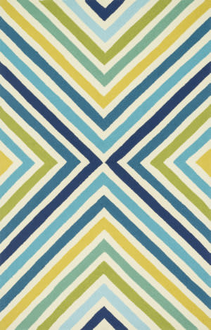 Loloi Palm Springs Pm-01 Blue / Green Area Rug