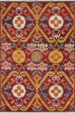 Loloi Spencer Sc-01 Hm Collection Crimson / Gold Area Rug