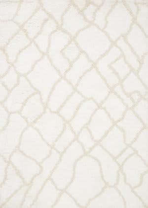 Loloi Tangier Shag Tg-01 White - Beige Area Rug
