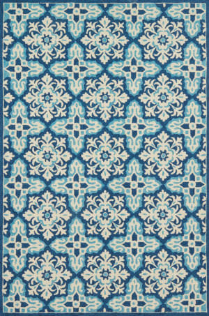 Loloi Venice Beach Vb-28 Ivory - Blue Area Rug