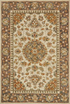 Loloi Victoria Vk-11 Ivory - Charcoal Area Rug