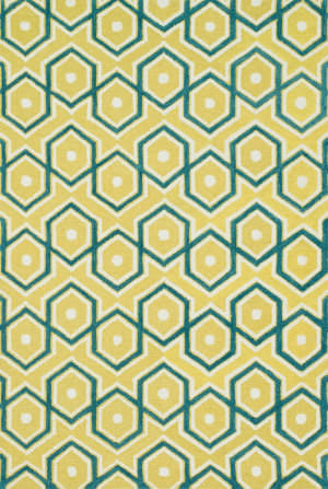 Loloi Weston Hws11 Lemon / Aqua Area Rug