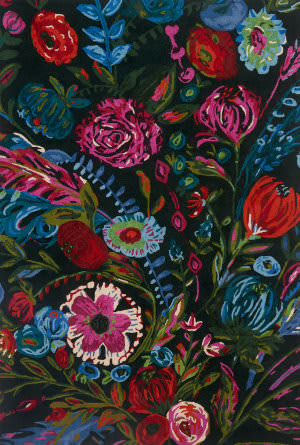 Loloi Wild Bloom Wv-02 Forest - Fuchsia Area Rug