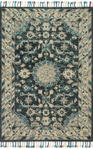 Loloi Zharah Zr-02 Teal - Grey Area Rug
