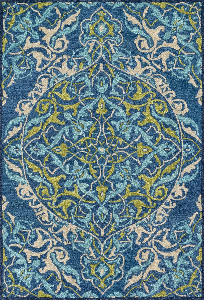 Loloi Mayfield Mf 16 Blue Lime Rug Studio