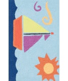Loloi Angelou AN-01 Light Blue / Orange Area Rug