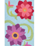 Loloi Angelou AN-07 Light Blue / Berry Area Rug
