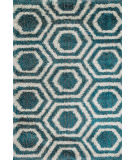 Loloi II Barcelona Shag BS-09 Blue / Light Grey Area Rug