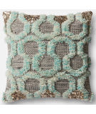 Loloi Pillow P0485 Teal - Grey
