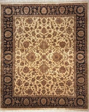 Lotfy and Sons Vintage 135b Gold/Black Area Rug