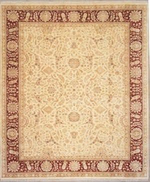 Lotfy and Sons Nuance 872 Light Gold/Red Area Rug