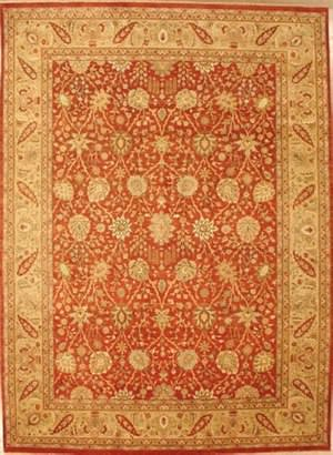 Lotfy and Sons Nuance 871 Rust/Light Gold Area Rug
