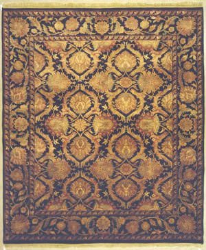 Lotfy and Sons Majestic Hs-22 Black/Black Area Rug