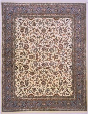 Lotfy and Sons Narmada 320 Ivory/Light Blue Area Rug