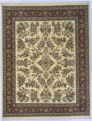 Lotfy and Sons Narmada 400 Ivory/Burgundy Area Rug
