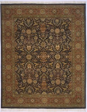 Lotfy and Sons Prestige Kashan Dark Blue/Rust Area Rug