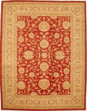 Lotfy and Sons Mahal 209 Red/Ivory Area Rug