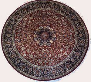 Lotfy and Sons Isfahan AC-53 Red/Dark Blue Area Rug