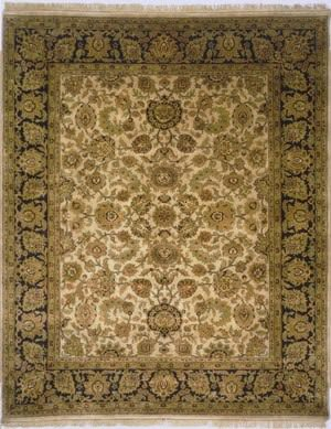 Lotfy and Sons Majestic Ma-16 Beige/Black Area Rug
