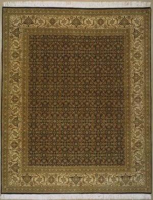Lotfy and Sons Prestige Tabriz Heraty Black/Light Gold Area Rug