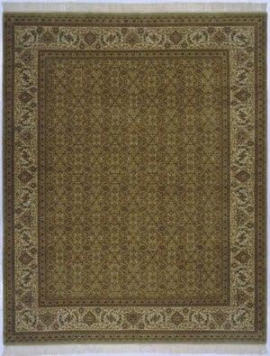 Lotfy and Sons Prestige Tabriz Heraty Light Green/Ivory Area Rug