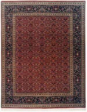 Lotfy and Sons Prestige Tabriz Heraty Red/Navy Area Rug