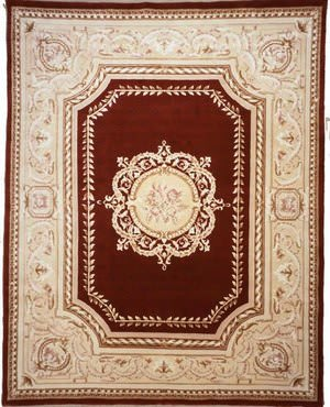 Lotfy and Sons Orleans Tr2 Burgundy/Light Gold Area Rug