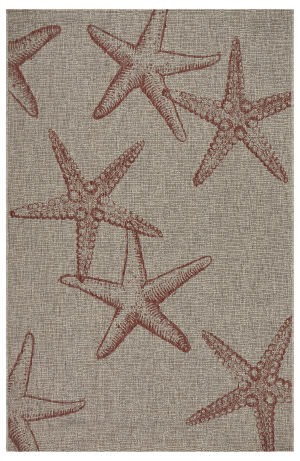 Lr Resources Captiva 81020 Coral - Beige Area Rug