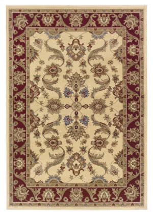 Lr Resources Adana 80371 Cream - Red Area Rug