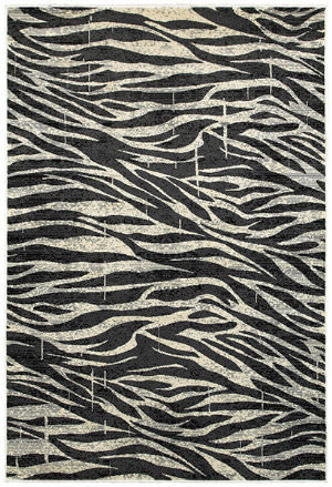 Lr Resources Adana 80379 White - Anthracite Area Rug
