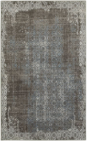 Lr Resources Adana 80383 Brown - White Area Rug