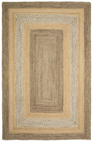 Lr Resources Classic Jute 81206 Gray - Natural Area Rug