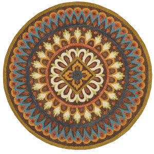 Lr Resources Dazzle 54025 Brown Area Rug