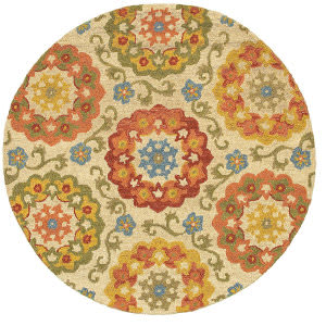 Lr Resources Dazzle 54028 Ivory Area Rug