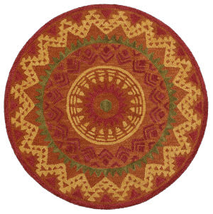 Lr Resources Dazzle 54059 Rust Area Rug