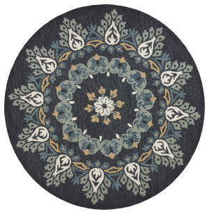 Lr Resources Dazzle 54097 Dark Blue Area Rug