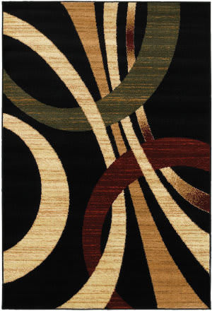 Lr Resources Grace 81106 Black Area Rug