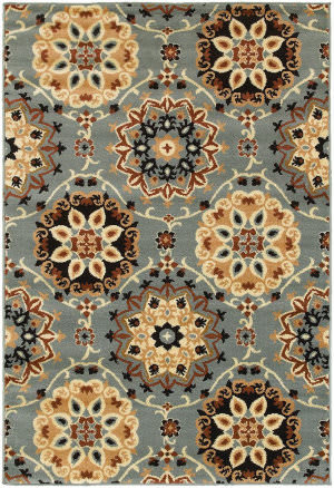 Lr Resources Grace 81116 Blue Area Rug