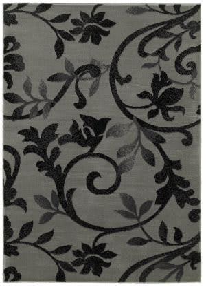 Lr Resources Grace 81131 Gray - Black Area Rug