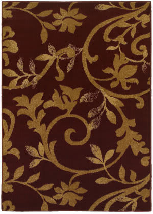 Lr Resources Grace 81133 Red - Beige Area Rug