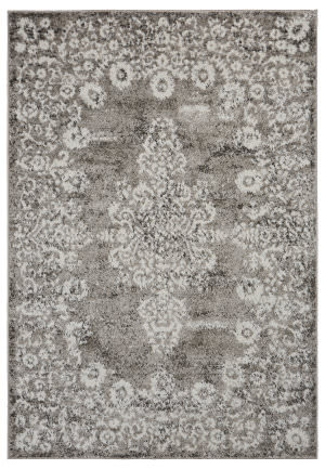 Lr Resources Infinity 81334 Stone - Gardenia Area Rug