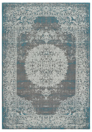 Lr Resources Jewel 81031 Gray - Turquoise Area Rug