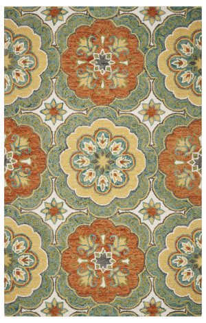 Lr Resources Lavish 54095 Teal Area Rug