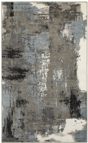Lr Resources Matrix 81156 Walnut - Silver Blue Area Rug