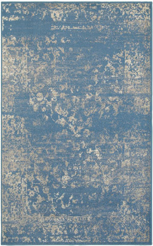 Lr Resources Matrix 81176 Blue - Light Beige Area Rug