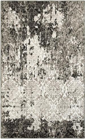 Lr Resources Matrix 81192 White - Brown Area Rug