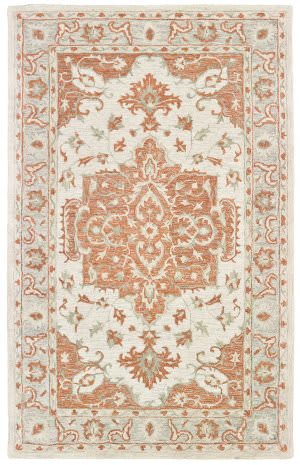 Lr Resources Modern Traditions 81287 Orange - Gray Area Rug