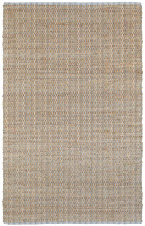 Lr Resources Natural Fiber 03307 Sky Blue Area Rug