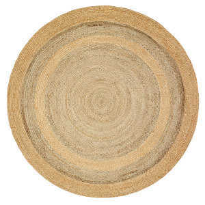 Lr Resources Natural Jute 12032 Natural - Gray Area Rug